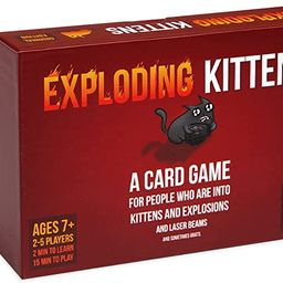 Exploding Kittens - A Russian Roulette Card Game, Easy Family-Friendly Party Games - Card Games f... | Amazon (US)