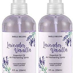 SMELLS BEGONE Essential Oil Air Freshener Spray - Odor Eliminator - Lavender Vanilla Scent - 2 Pa...   Amazon (US)