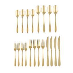 Cambridge Silversmiths Byram Gold 20-Piece Flatware Set, Service for 4 | Walmart (US)