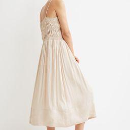 Smock-detail Satin Dress | H&M (US)