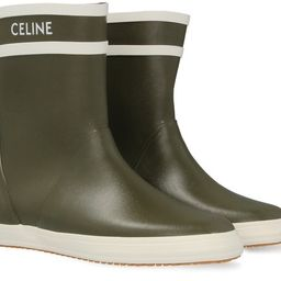 Flat Half Boot Les Bottes De Pont Celine in Natural Rubber | 24S