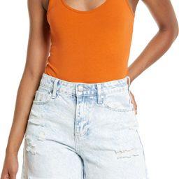 Double Scoop Stretch Cotton Bodysuit | Nordstrom