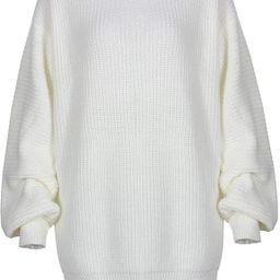 YoMeiJun Women's Casual Oversized Sweater Dress Long Knitted Chunky Pullover Jumper | Amazon (US)