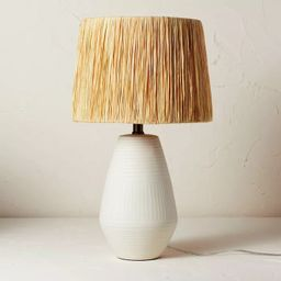 Ceramic Table Lamp with Natural Shade Cream (Includes LED Light Bulb) - Opalhouse™ designed... | Target