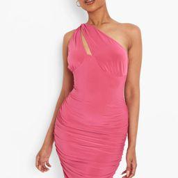 One Shoulder Cut Out Mini Dress | Boohoo.com (US & CA)