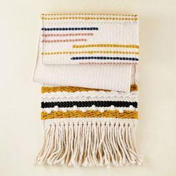 "72"" x 14"" Cotton Textured Table Runner with Fringe Black/White/Gold - Opalhouse™ de... | Target"