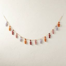 """72"""" Warm Tassel Pom Beaded Garland - Opalhouse™ designed with Jungalow™ 
