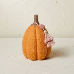 """7.5"""" x 5"""" Felted Pumpkin Figurine Apricot - Opalhouse™ designed with Jungalow&#8482... 