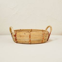 """14"""" x 5.5"""" Round Rattan Tray - Opalhouse™ designed with Jungalow™ 
