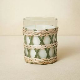 16oz Glass 2-Wick with Woven Wrap Green Candle - Opalhouse™ designed with Jungalow™ | Target