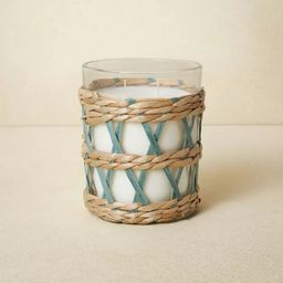 16oz Glass 2-Wick with Woven Wrap Blue Candle - Opalhouse™ designed with Jungalow™ | Target