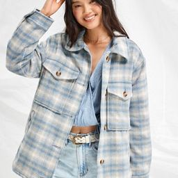 AE Brushed Plaid Shacket | American Eagle Outfitters (US & CA)
