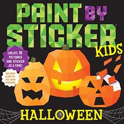 Paint by Sticker Kids: Halloween: Create 10 Pictures One Sticker at a Time! Includes Glow-in-the-...   Amazon (US)