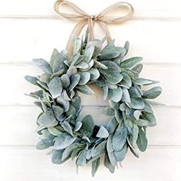 Mini Wreath, Small Wreath, Window Wreath, Farmhouse Wreath, Lambs Ear Wreath, Farmhouse Decor, Sp...   Amazon (US)