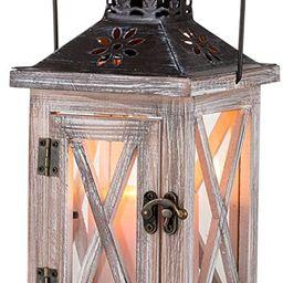Sziqiqi Vintage Distressed Wooden Decorative Lantern for Rustic Wedding Centerpiece Hanging Lante...   Amazon (US)