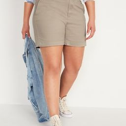 High-Waisted Twill Everyday Shorts for Women -- 5-inch inseam   Old Navy (US)