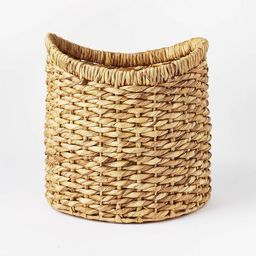 """16.5"""" x 16"""" Chunky Round Woven Basket Natural - Threshold™ designed with Studio McGee   Target"""