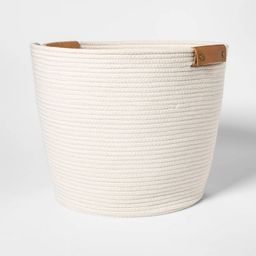 Decorative Coiled Rope Floor Basket White - Threshold™   Target
