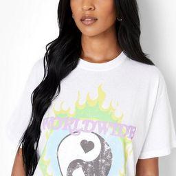 Tall Yin Yang Graphic T-Shirt   Boohoo.com (US & CA)