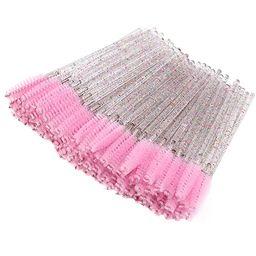 100 Pieces Crystal Eyelash Mascara Brushes Spoolie Brush Lash Wands Applicator Disposable Eyebrow... | Amazon (US)