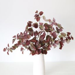 """Burgundy UV Protected Outdoor Fake Cotinus Leaves - 34"""" Tall   Afloral (US)"""