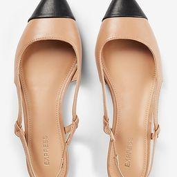 Toe Cap Slingback Ballet Flats   Express