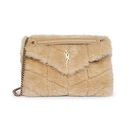 Small Shearling Puffer Shoulder Bag   Saks Fifth Avenue