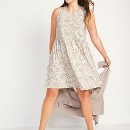 Sleeveless Printed Jersey-Knit Swing Dress for Women | Old Navy (US)