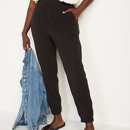 High-Waisted Twill Jogger Pants for Women   Old Navy (US)