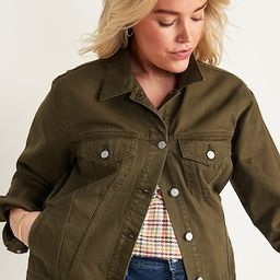 Olive Green Non-Stretch Jean Jacket for Women | Old Navy (US)