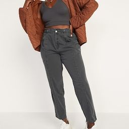 High-Waisted Garment-Dyed Utility Pants for Women | Old Navy (US)