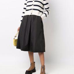 padded full midi skirt | Farfetch (UK)