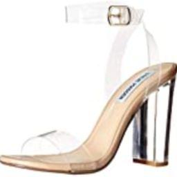 Steve Madden Women's Camille Heeled Sandal, Clear, 7.5 | Amazon (US)