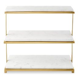 Marble & Brass 3-Tiered Stand | Williams-Sonoma