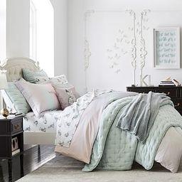 Blythe Upholstered Low Footboard Bed | Pottery Barn Kids