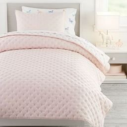 Square Stitch Quilt & Watercolor Unicorn Bedding Set | Pottery Barn Kids