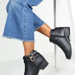Double Buckle Chelsea Ankle Boots | Boohoo.com (US & CA)