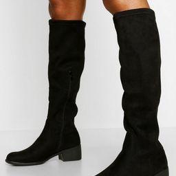 Flat Knee High Boot | Boohoo.com (US & CA)