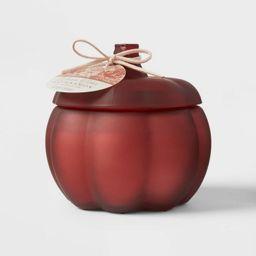 Medium Pumpkin Warm Cider and Cinnamon Red Marsala Candle - Threshold™   Target