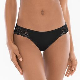Cotton Blend w/Lace Bikini   Soma Intimates