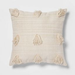 Euro Woven Textured Decorative Throw Pillow With Tassels Cream/Neutral - Opalhouse™ | Target