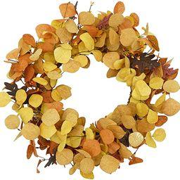 AMF0RESJ Artificial Fall Wreath for Front Door Autumn Eucalyptus Wreath with Colorfully Eucalyptu... | Amazon (US)