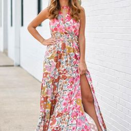 All The Attention Maxi Dress - Sand Floral   The Impeccable Pig