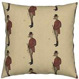 Flowershave357 Foxhunt Throw Pillow Cover Col Renard Mf 18x18 Home Decor Pillowcase   Amazon (US)
