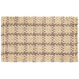 "Plaid Natural Fiber Doormat, 18 x 30"", Black Multi | Pottery Barn (US)"