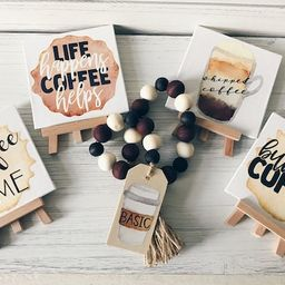 Mini Coffee Bar Signs  Mini Coffee Canvas with Easel  Coffee   Etsy   Etsy (US)