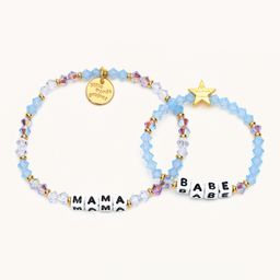 Mama + Babe Periwinkle Crystal- Mama & Me   Little Words Project