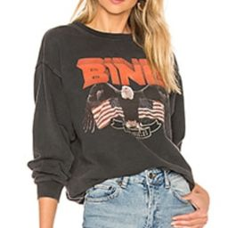 ANINE BING Vintage Bing Sweatshirt in Black from Revolve.com | Revolve Clothing (Global)