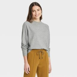 Women's Crewneck Light Weight Pullover Sweater - A New Day™ Gray XS   Target