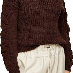 Cable Knit Sleeve Turtleneck Sweater   Nordstrom Rack